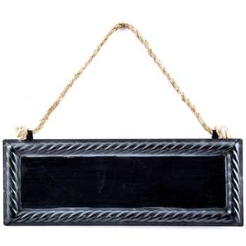 Black Metal Chalkboard With Rope Hanger